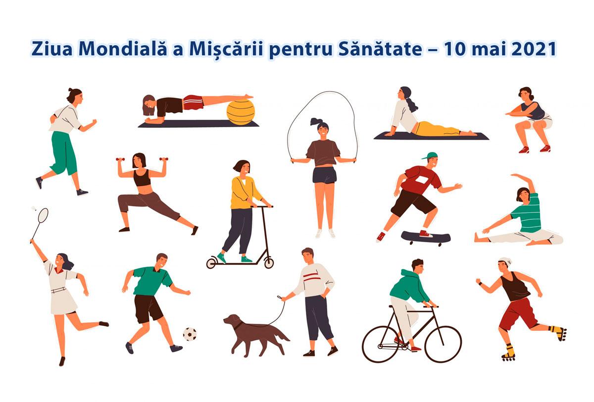 Read more about the article Ziua Mondială a Mișcării pentru Sănătate – 10 mai 2021